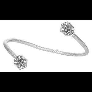 KENDRA SCOTT Jamie Swirl  Cuff Bracelet in Rhodium